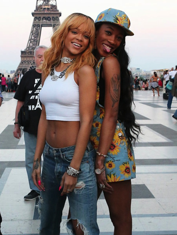 Rihanna and Melissa Eiffel Tower