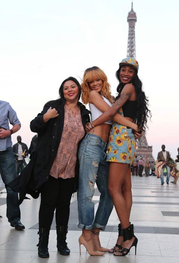 Rihanna and friends in paris