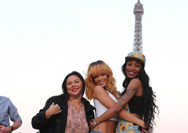 Rihanna and friends in paris