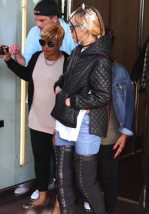 Rihanna and mom Monica