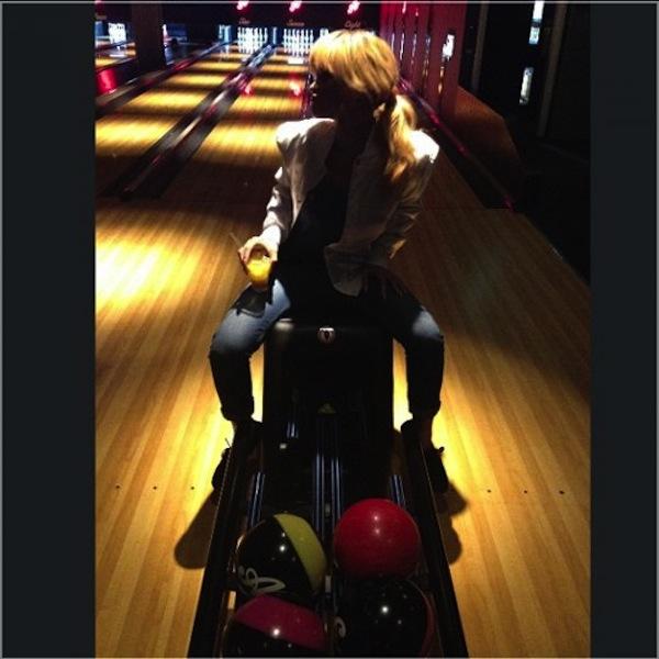 Rihanna bowling alley