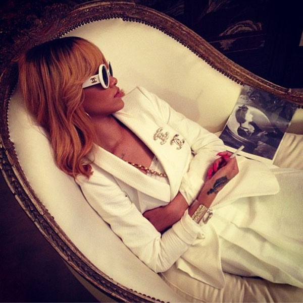 Rihanna coco chanel bathtub