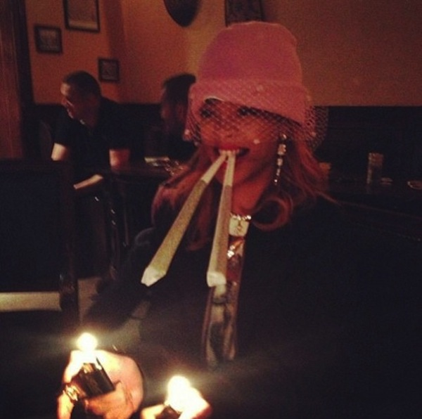 Rihanna giant spliff