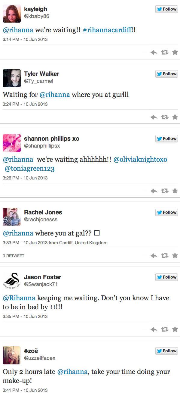 Rihanna twitter fans 2013