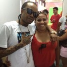 Tommy Lee and fans in Belize