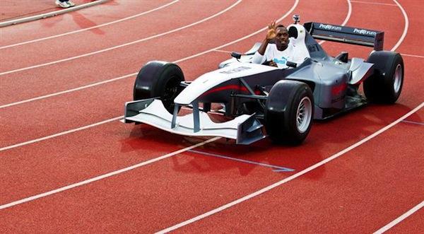 usain bolt formula 1 car