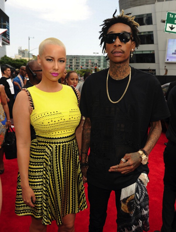 Amber Rose and Wiz Khalifa BET Awards