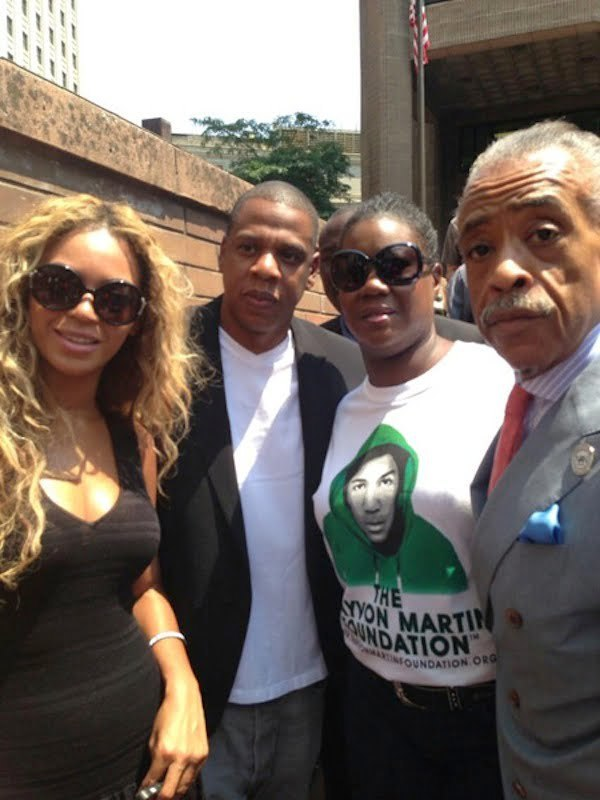 Beyonce Jay-Z trayvon martin rally