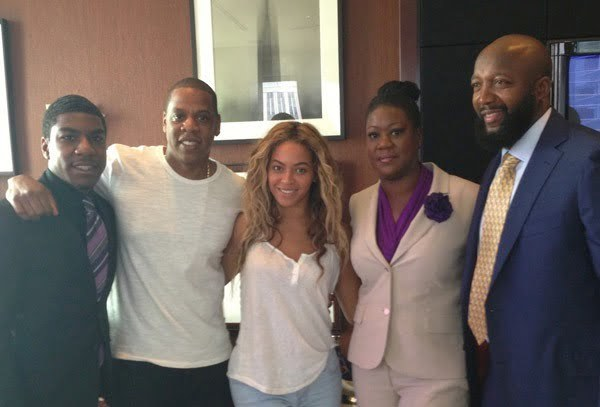 Beyonce and Jay-Z Trayvon Martin family