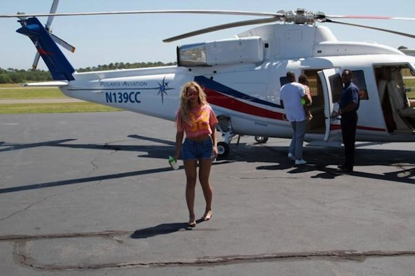 Beyonce jayz helicopter ride