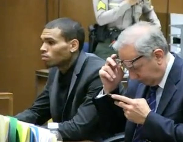 Chris Brown in court 1