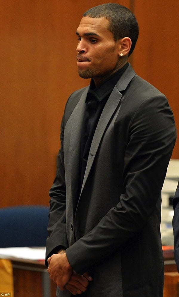 Chris Brown in court 2013