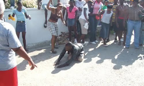 Gay beaten Jamaica