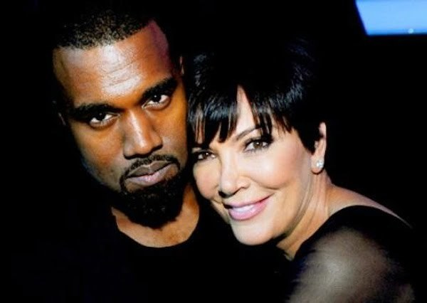 Kanye West and Kris Jenner