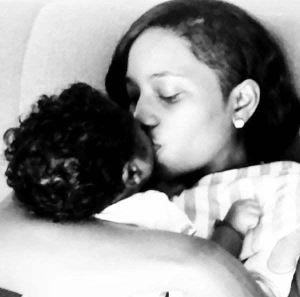 Kimberly Megan and Aidonia baby