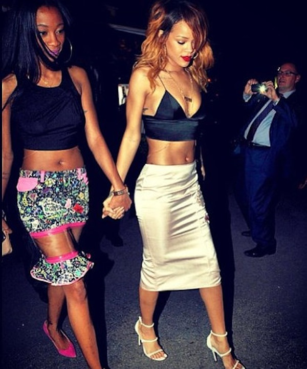 Rihanna and Melissa Forde in Paris