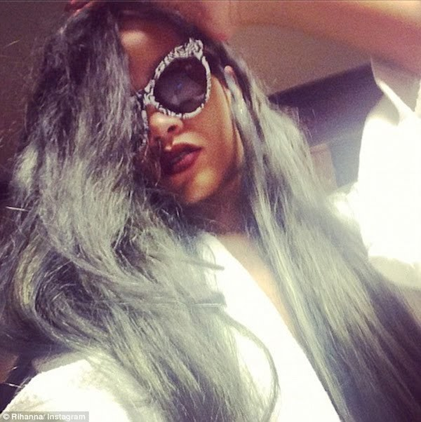 Rihanna grey hair