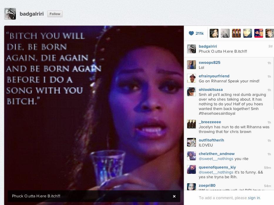 Rihanna instagram rant
