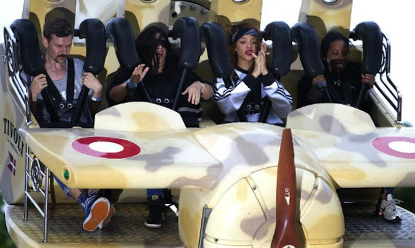 Rihanna roller coaster ride