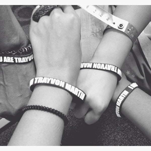 Trayvon Martin wrist band