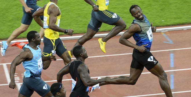 Usain Bolt Clowns Justin Gatlin During Zurich Win [VIDEO]