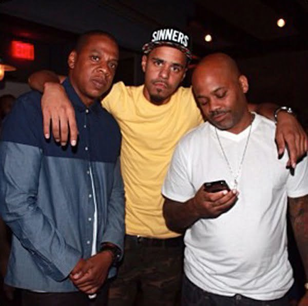 Jay-Z J Cole and Dame Dash