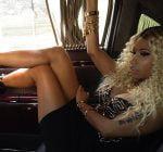 Nicki Minaj in her Maybach