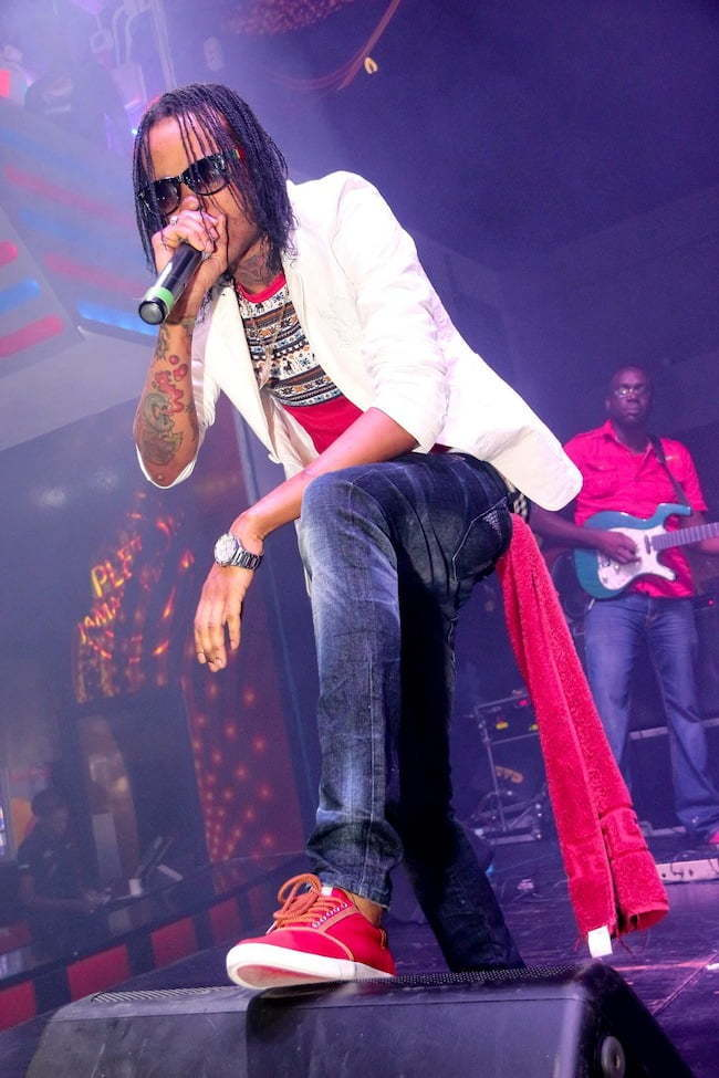 Tommy lee Sparta performing at famous