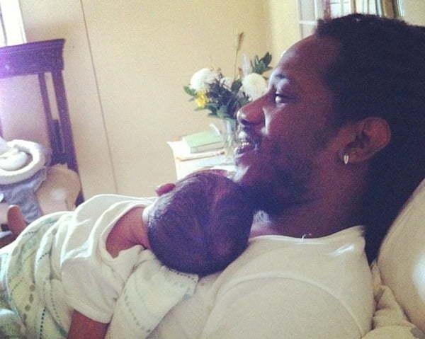 Wayne Marshall and his baby