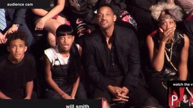 Will Smith family reaction miley cyrus vma