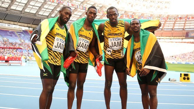 Jamaica Dominate 4X100 Relay In Moscow To Win Gold [VIDEO]