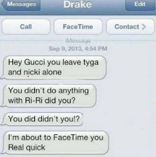 Drake Gucci Mane text
