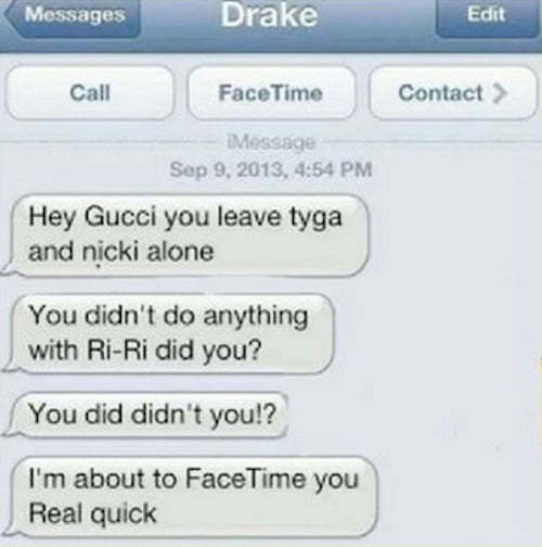 Drake Gucci Mane text