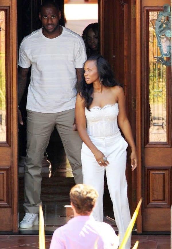 Lebron and Savannah married