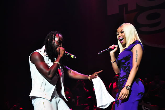 Mavado and Nicki Minaj reggae on tip