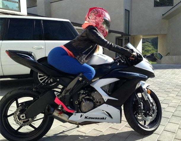 Nicki Minaj Kawasaki Motorcycle