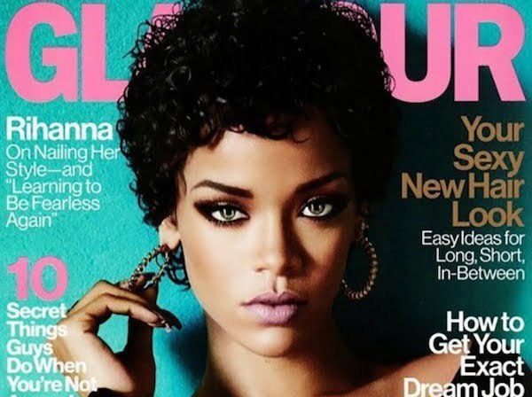 Rihanna Rock Curls On The Cover Of Gamour Magazine [PHOTO]