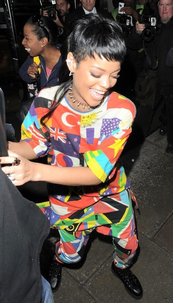Rihanna flag outfit