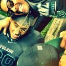 Rohan Marley and son Tulane
