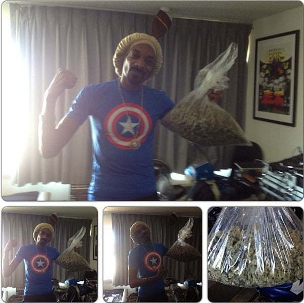 Snoop lion bag of weed