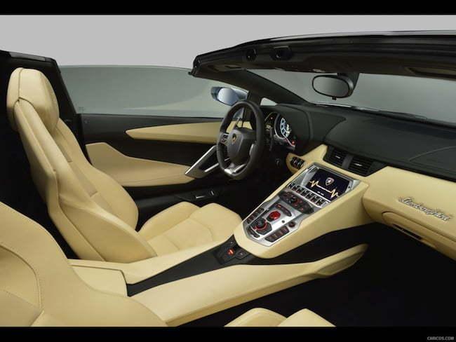 2014 Lamborghini Aventador Roadster interior