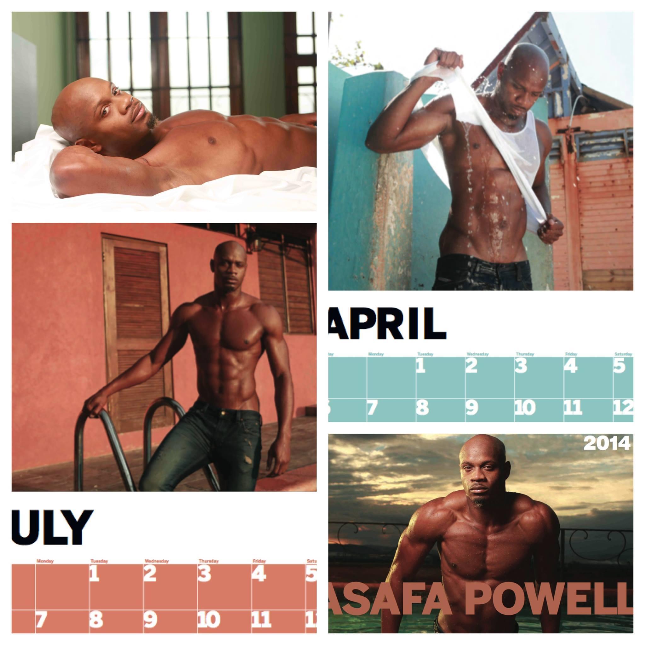 Asafa Powell 2014 calender
