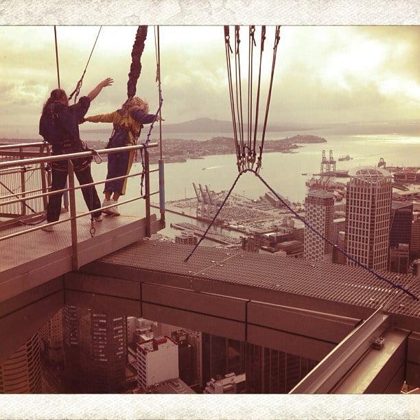 Beyonce on Sky Tower