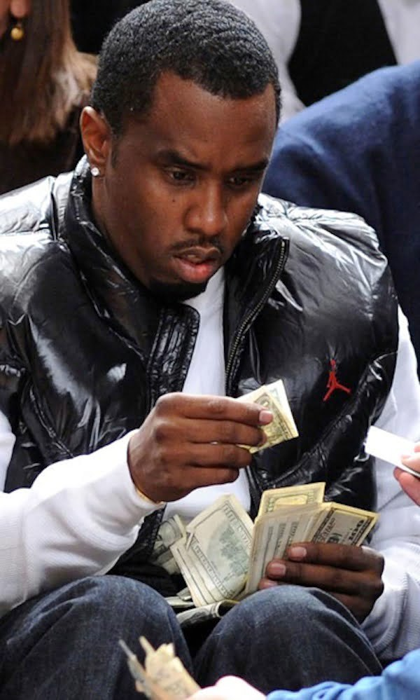Diddy counting money