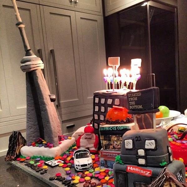 Drake birthday cake