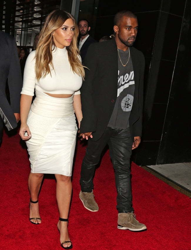 Kim and Kanye West after engagement