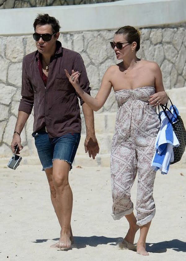 Kate Moss and husband Jamie in Jamaica