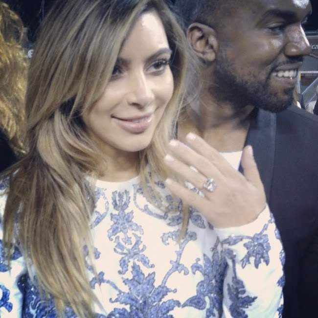 Kanye West Kim Kardashian engagement ring
