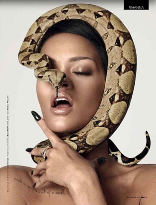 Rihanna GQ mag snake