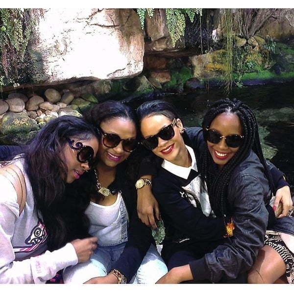 Rihanna and her cousins
